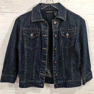 DKNY Jeans Dark Indigo Vtg 90s Jean Jacket Size XS
